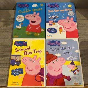 Bundle of 4 Peppa Pig DVD's